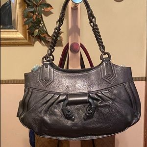 "NWOT ""DEREK LAM"" Leather Satchel leather handles"